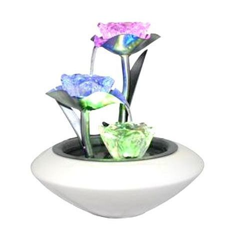 Fontaine d'intérieur Irida avec éclairage - Éclairage Led à à changement de couleur en dégradé