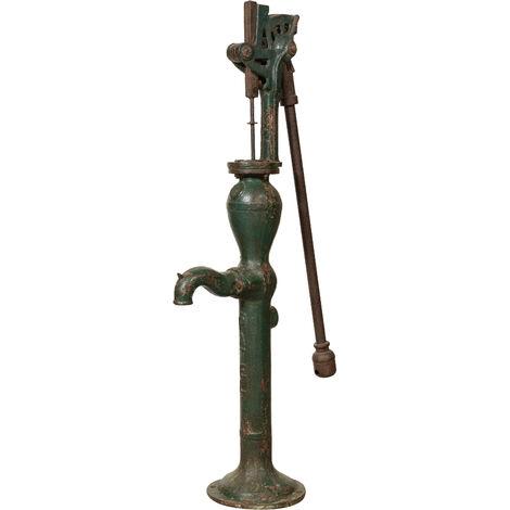 Fontaine Fontanella en fonte et fer pour puits extérieur ancien/antique