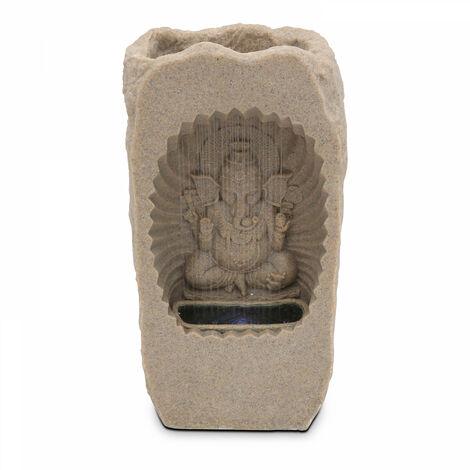 Fontaine Ganesh en pierre reconstituée avec LED 32,5 x 24 x 60cm Ivela - Gris - Gris