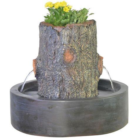 Fontaine jardinière tronc d\'arbre Artpot - SCFR18CT