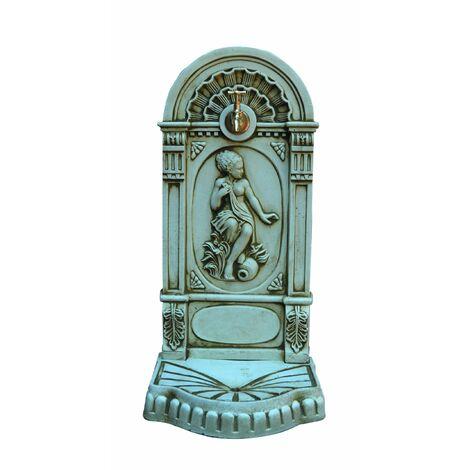 FONTAINE  MURALE DE JARDIN en béton-pierre Laurel  42x55x98cm.