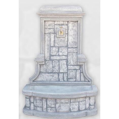 FONTAINE MURALE Modèle Rustique. 115x78x48cm. Pour le jardin. En béton-pierre allégée. Diverses couleurs.