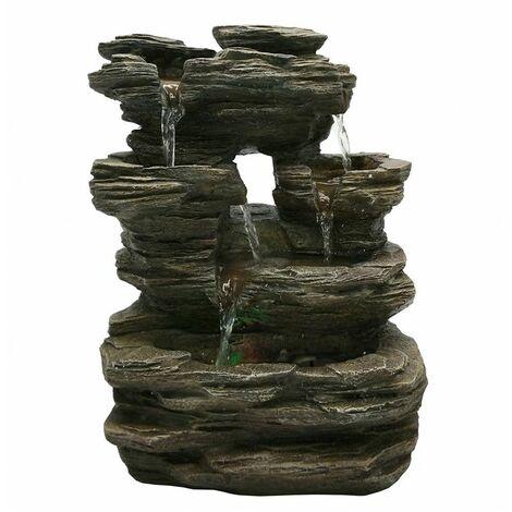 Fontaine Nature Pietra - H 35 cm - LED - Livraison gratuite