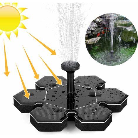 Fontaine Solaire d'extérieur avec Panneau Solaire 1,5 W - Noir