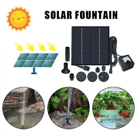 Fontaine solaire - petite piscine, piscine, fontaine extérieure de jardin de cour - vert, bleu