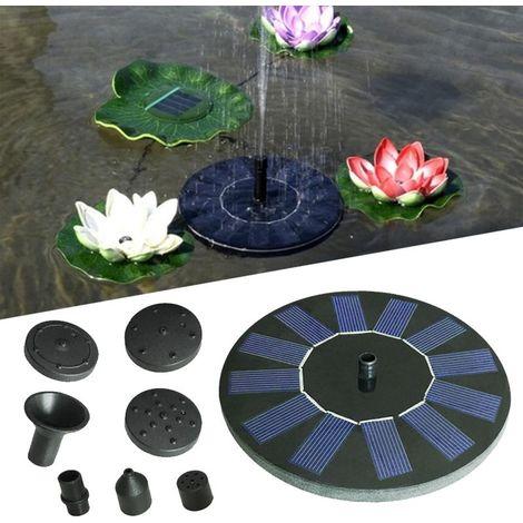 Fontaine Solaire, Pompe à Eau Solaire Aucun Plantes Batterie ou Electricité pour Bassin / Piscine / Décoration de Jardin
