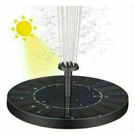 """main image of """"Fontaine solaire, pompe d'étang solaire, pompe à eau de jardin avec batterie de stockage, panneau solaire monocristallin de 1,4 W"""""""