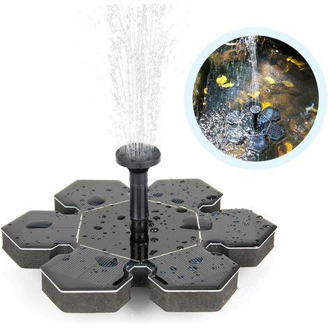 Fontaine solaire, pompe solaire de bassin Pompe à eau extérieure Pompe solaire avec fontaine de panneau solaire monocristallin