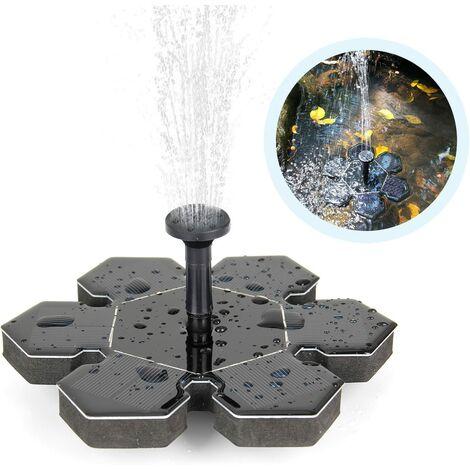 Fontaine solaire, pompe solaire de bassin Pompe à eau extérieure Pompe solaire avec fontaine de panneau solaire monocristallin de 1,5 W