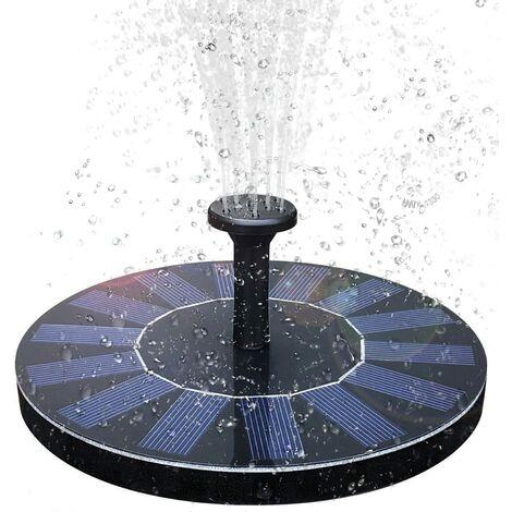 Fontaine solaire Pompes, Fontaine Solaire Jardin Avec 1,4 W Panneau Solaire Monocristalline Pour Bassin de Jardin ou Fontaine - Noir