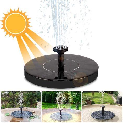 Fontaine Solaire pour Bassin de Jardin, Bassin, Oiseau, Poisson, Petit étang