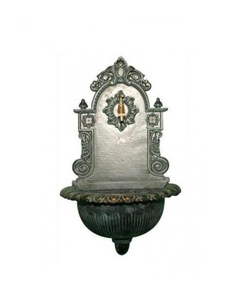 Fontane fontanella eden in ghisa da giardino con rubinetto in ottone