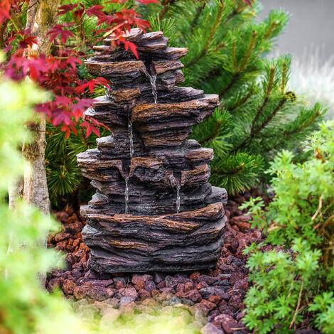 Fontana da giardino, fontana a cascata, fontana decorativa, fontana da interni 230V 101455