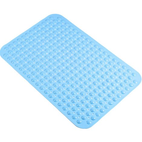 """main image of """"Foot Massage Shower Mat Suction Cup Strong Adsorption Non-slip Massage Particles Washable Bathroom Bathtub Mat,model:Blue"""""""