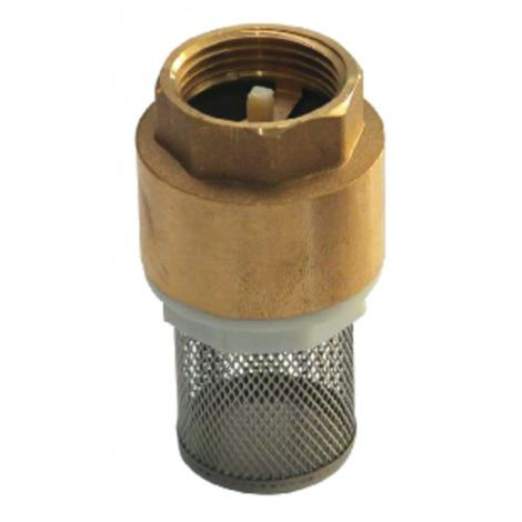 Foot valve with inlet filter, all positions 1 1/4?
