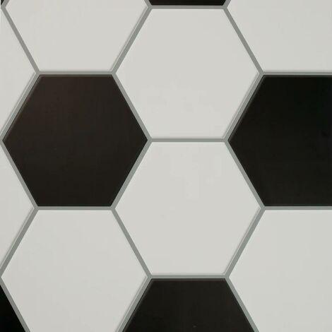 Football Goal Wallpaper Mono Black And White Ball Themed Kids Bedroom