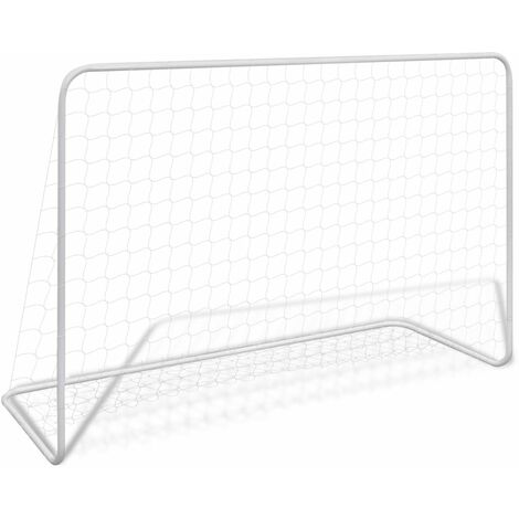 Football Goal with Net 182x61x122 cm Steel White