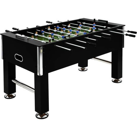 Football Table Steel 60 kg 140x74.5x87.5 cm Black