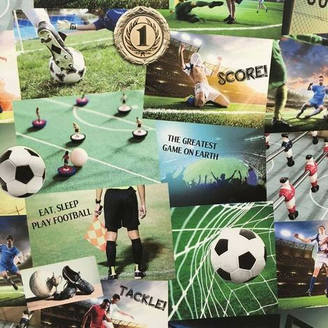 Football Wallpaper Soccer Boys Collage Luxury Heavyweight Multicoloured