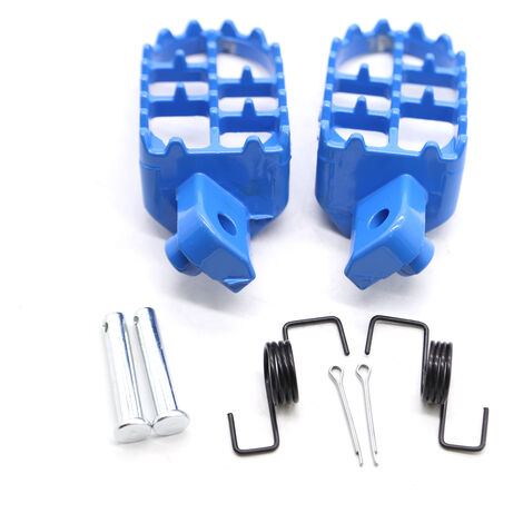 """main image of """"Footrests Kit Foot Rests Blue Replacement for Yamaha PW50 PW80 TW200 TTR90 TTR90E Honda XR50R CRF50 CRF70 CRF80 CRF100F Dirt Bike,model:Blue"""""""