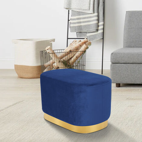 Footstool Footrest Chair Seat Upholstered Pouffe Stool