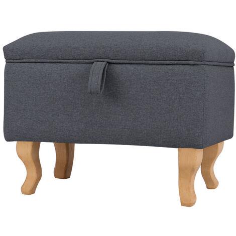 Footstool Ottoman Pouffe Stool Toy Storage Box Bench Chair Window Seat Dark Grey