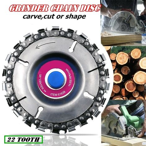 """For 4 """"Angle Grinder 4-1 / 2"""" 22 Teeth 4 """"Fine Cut Grinding Disc And Chain Hasaki"""