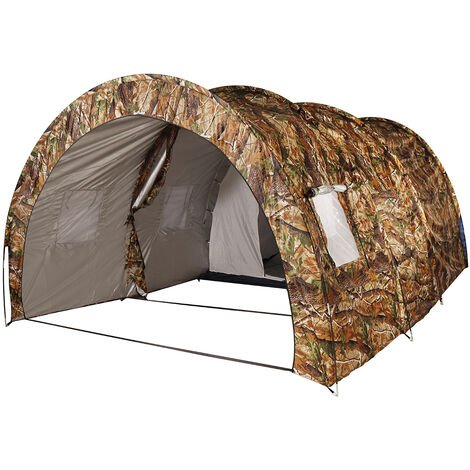 For 8-10 Persons Waterproof Camping External Tent Camouflage W/ 3X3M Pad