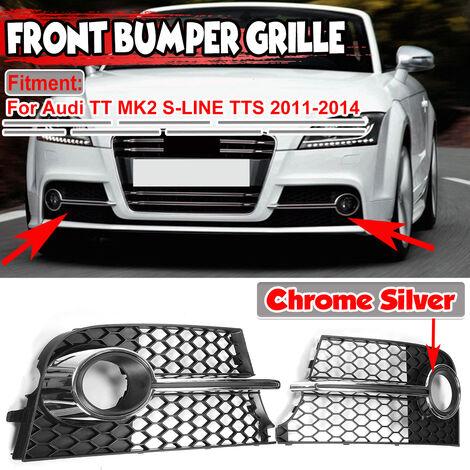 "main image of ""For Audi TT MK2 S-LINES TTS 2011-2014 Honeycomb Mesh Fog Light Grill Grille Cover"""
