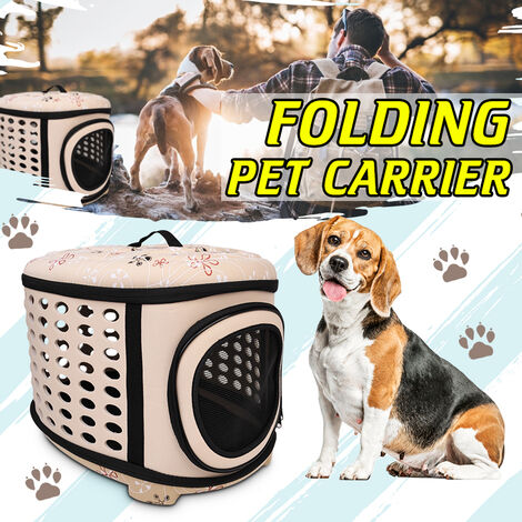 For Cat Dog Puppy Guinea Pig Hamster Foldable Breathable] Mini / Small / Medium / Large Portable Pet Handbag Shoulder Bag Travel Bag 3 Colors (Beige, Large)