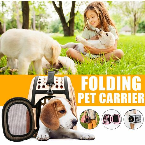 For Cat Dog Puppy Guinea Pig Hamster Foldable Breathable] Mini / Small / Medium / Large Portable Pet Handbag Shoulder Bag Travel Bag 3 Colors (Beige, Medium)