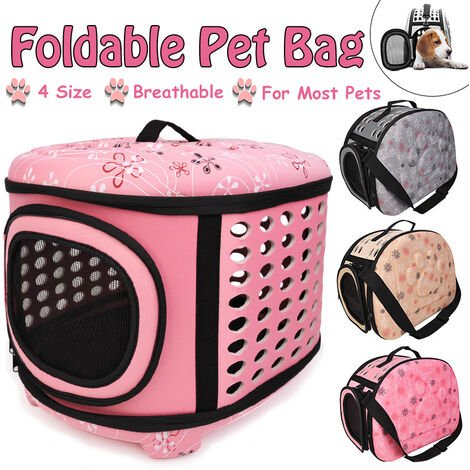 For Cat Dog Puppy Guinea Pig Hamster Foldable Breathable] Mini / Small / Medium / Large Portable Pet Handbag Shoulder Bag Travel Bag 3 Colors (Pink, Large)