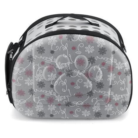 For Cat Dog Puppy Guinea Pig Hamster Foldable Handbag Shoulder Bag Travel Carrier grey Medium