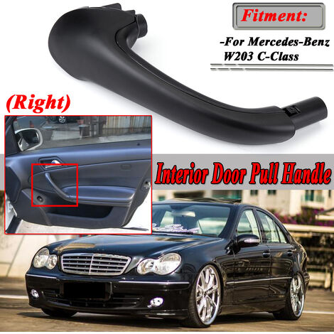 For Mercedes-Benz W203 C-Class Front Right Side Interior Door Pull Handle Black