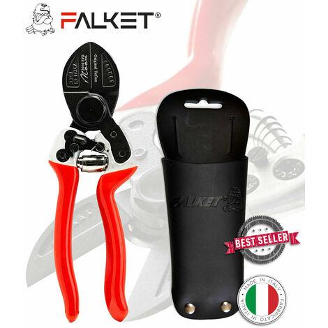 FORBICI FALKET 2010 EVO MOON CON FODERO DOPPIO TAGLIO, TEFLON 21 CM, PROFESSION