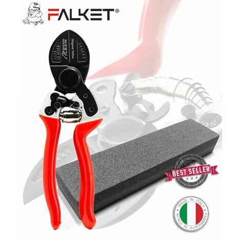 FORBICI FALKET 2010 EVO MOON CON PIETRA DOPPIO TAGLIO, TEFLON 21 CM, PROFESSION