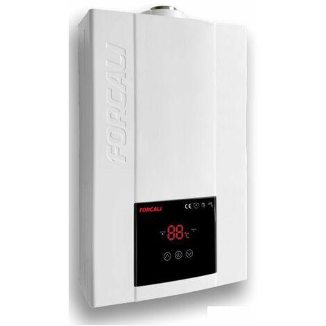 Forcali Calentador de agua Gas natural BAJO NOX 12 litros camara estanca con tiro forzado