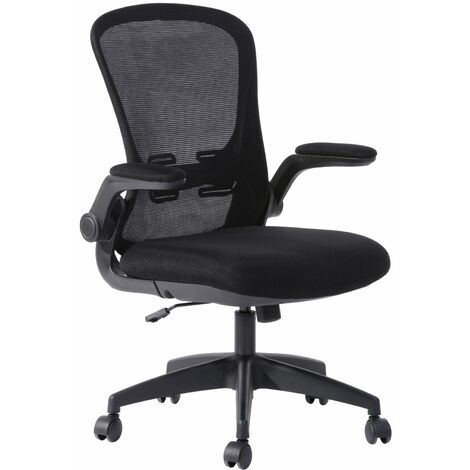 Foreso Height Adjustable Office Chair with armrests and a mesh back, W62xD62xH96.5-106.5 cm - Black
