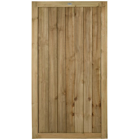 Forest 3' x 6' Featheredge Pressure Treated Wooden Side Garden Gate (0.92m x 1.8m)