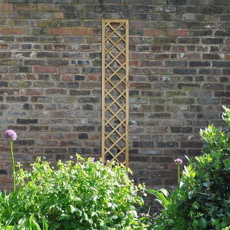 "Forest 5'11"" x 1' Hidcote Decorative Diamond Wooden Lattice Trellis (1.8m x 0.3m)"