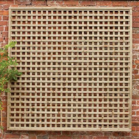 "Forest 5'11"" x 2'11"" Premium Framed Decorative Contemporary Square Garden Trellis (1.8m x 0.9m)"