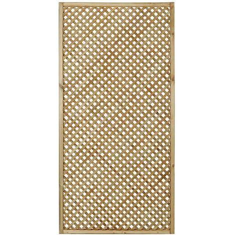 "Forest 5'11"" x 2'11"" Wisley Diamond Lattice Panel (1.8m x 0.9m)"