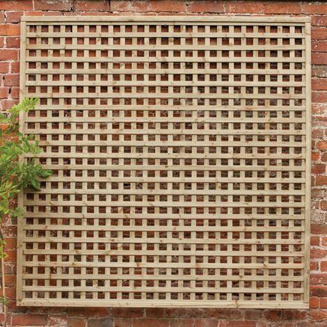 "Forest 5'11"" x 3'11"" Premium Framed Decorative Contemporary Square Garden Trellis (1.8mx1.2m"