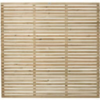 "Forest 5'11"" x 5'11"" Pressure Treated Contemporary Slatted Fence Panel (1.8m x 1.8m)"