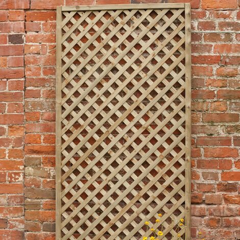 "Forest 5'11""x1' Rosemore Decorative Pressure Treated Diamond Trellis (1.8m x 0.3m)"
