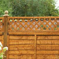 Forest 6' x 6' Diamond Lattice Trellis Fence Topper (1.83m x 0.3m)