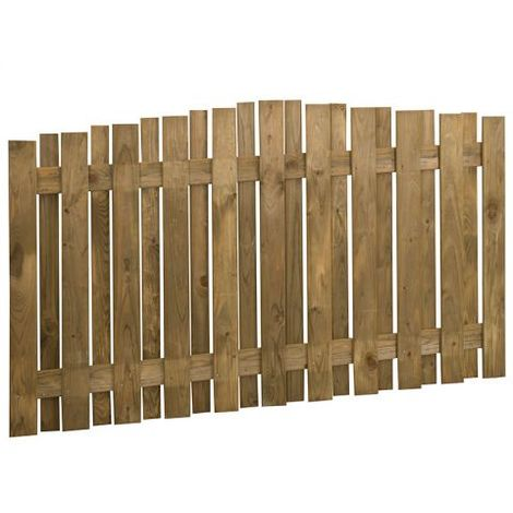 Forest 6'x3.5' Pressure Treated Dome Top Hit and Miss Fence Panel (1.83mx1.1m)
