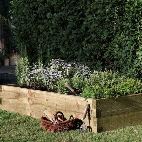 Forest Caledonian Rectangular Raised Bed 6'x3' (1.8x0.9m)