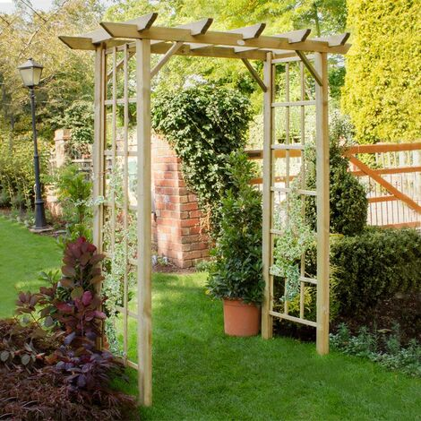 """main image of """"Forest Classic Wooden Garden Arch 7'x6'"""""""
