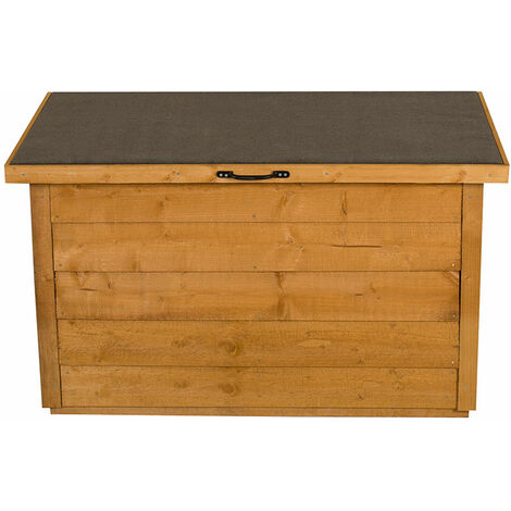 Forest Wooden Garden Storage Chest- Outdoor Patio Storage Box